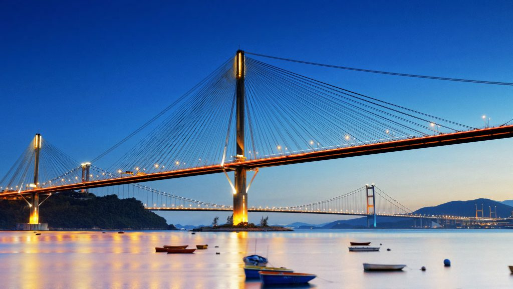 Ting Kau Bridge i Hong Kong